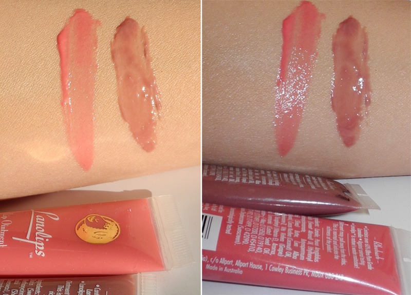 Lanolips Lip Ointment in Rhubarb and Dark Honey Review and Swatches 1