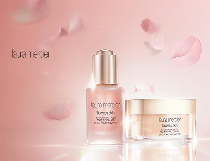 Laura Mercier Flawless Skin Infusion de Rose Nourishing Oil  and  Nourishing Crème