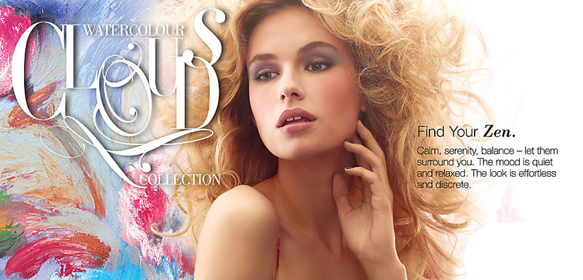 Laura Mercier Watercolour Clouds Makeup Collection for Spring 2015 promo