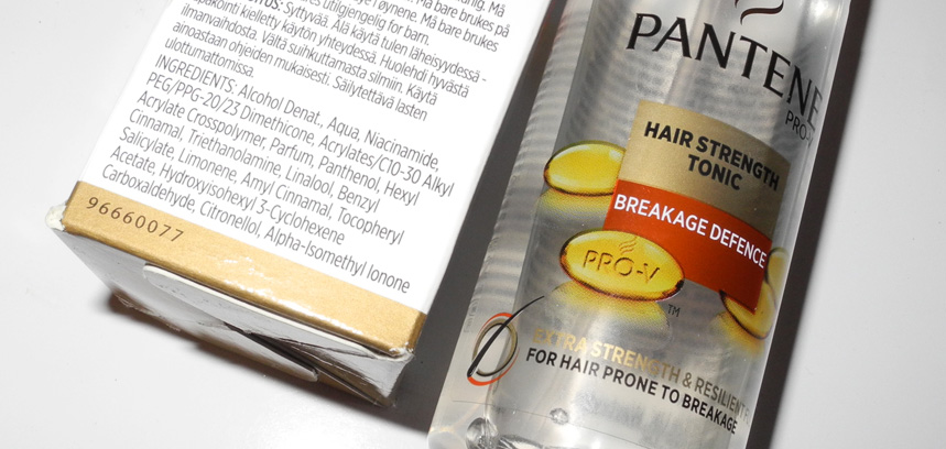 Pantene Breakage Defence Range hair strength  tonic ingredients
