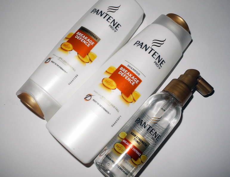 Pantene Breakage Defence Range shampoo conditioner tonic