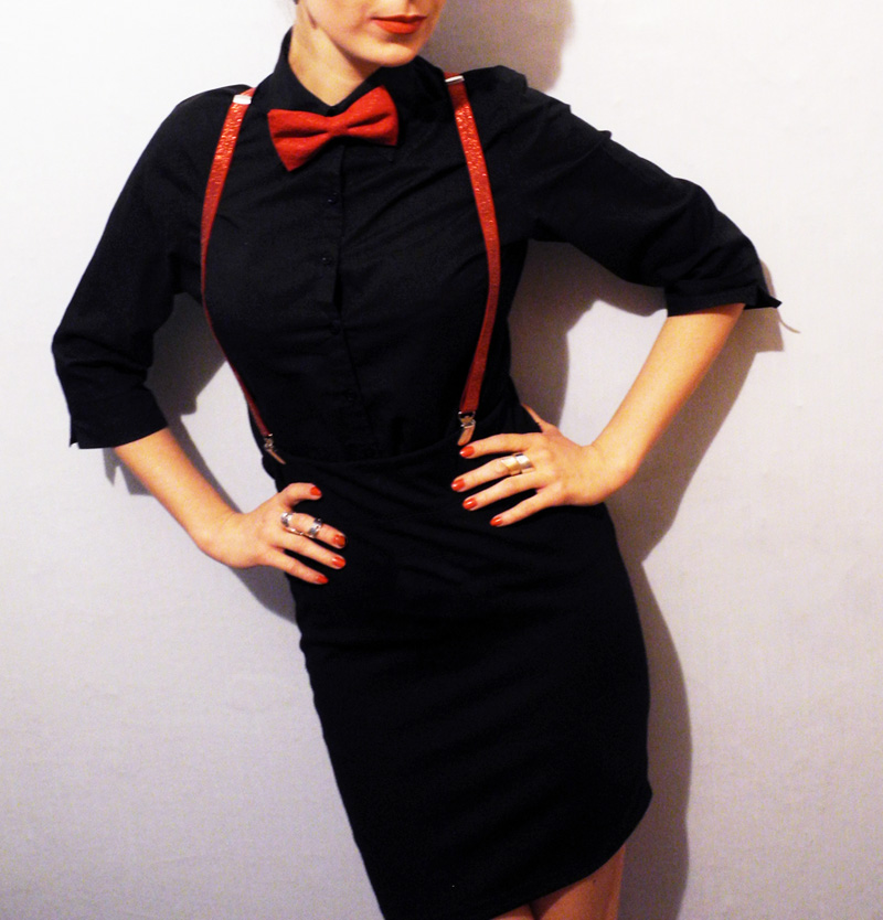 Red and Black Outfit Marina Makeup4all