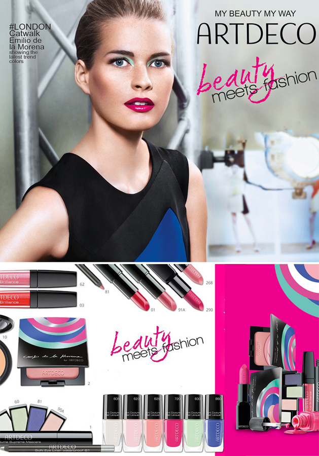 ArtDeco and  Emilio de la Morena makeup collection for spring 2015
