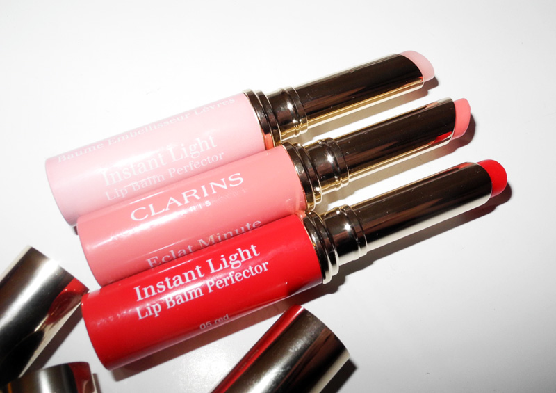 Clarins Instant Light Lip Balm Perfector Review and Swatches spring 2015 1