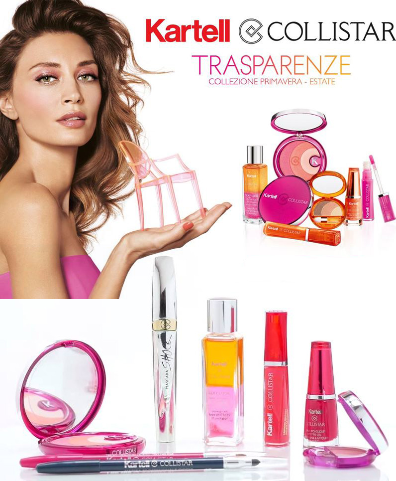 Collistar and Kartell Spring 2015 makeup collection Trasparenze