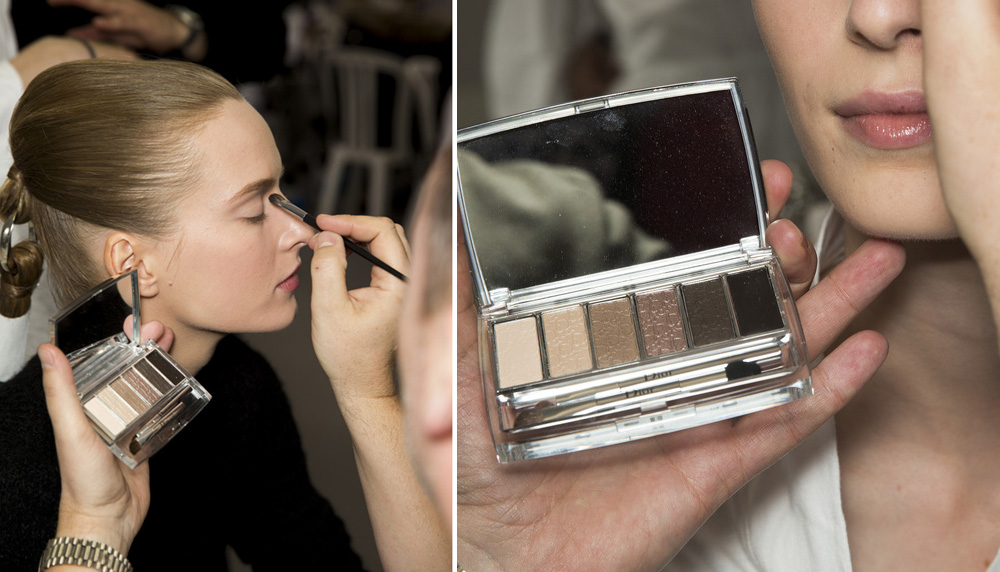 Dior Couture SS15 beauty look by Peter Philips Diorskin Nude air Daria Strokous palette