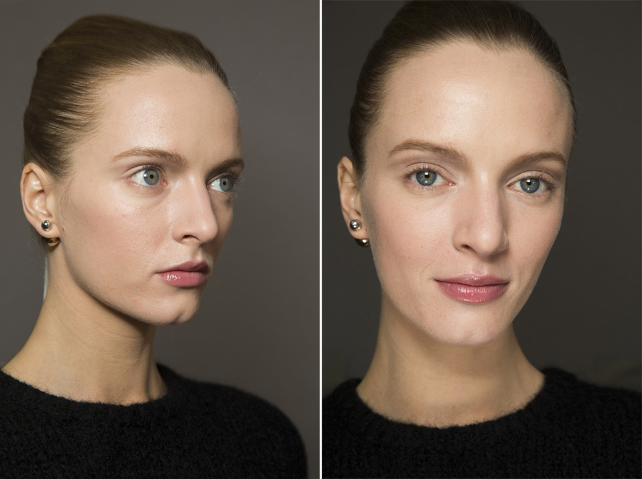 Dior Couture SS15 beauty look by Peter Philips Diorskin Nude air Daria Strokous