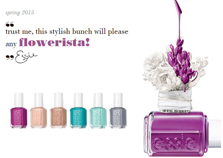Essie Flowerista Nail POlish Collection for Spring 2015