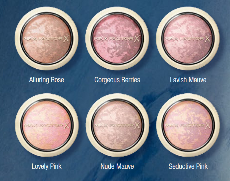 Max Factor Creme Puff Blush all shades Spring 2015
