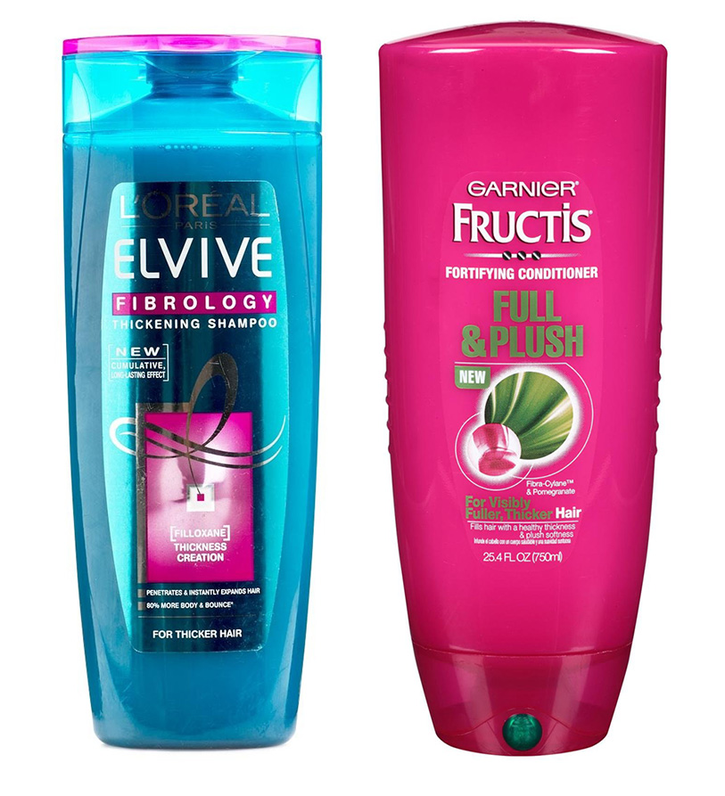 Affordable Hair Care L'Oreal Elseve and Garner Fructis Review shampoo & conditioner