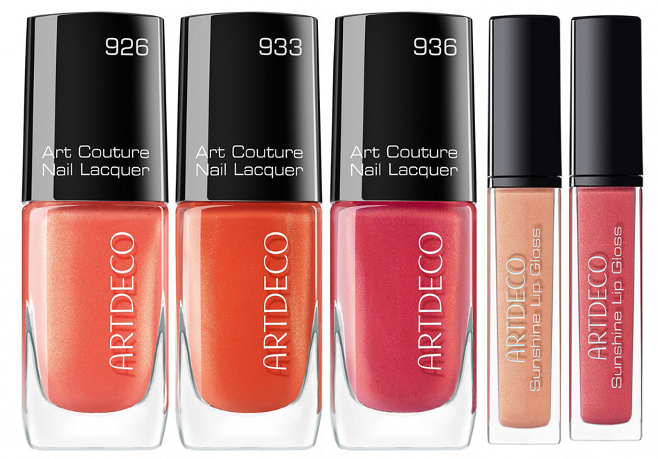 ArtDeco Here Comes The Sun Makeup Collection for Summer 2015 nails and lips