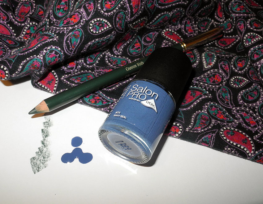 Colourful For Spring Rimmel Navy Seal and Clarins Intense Green