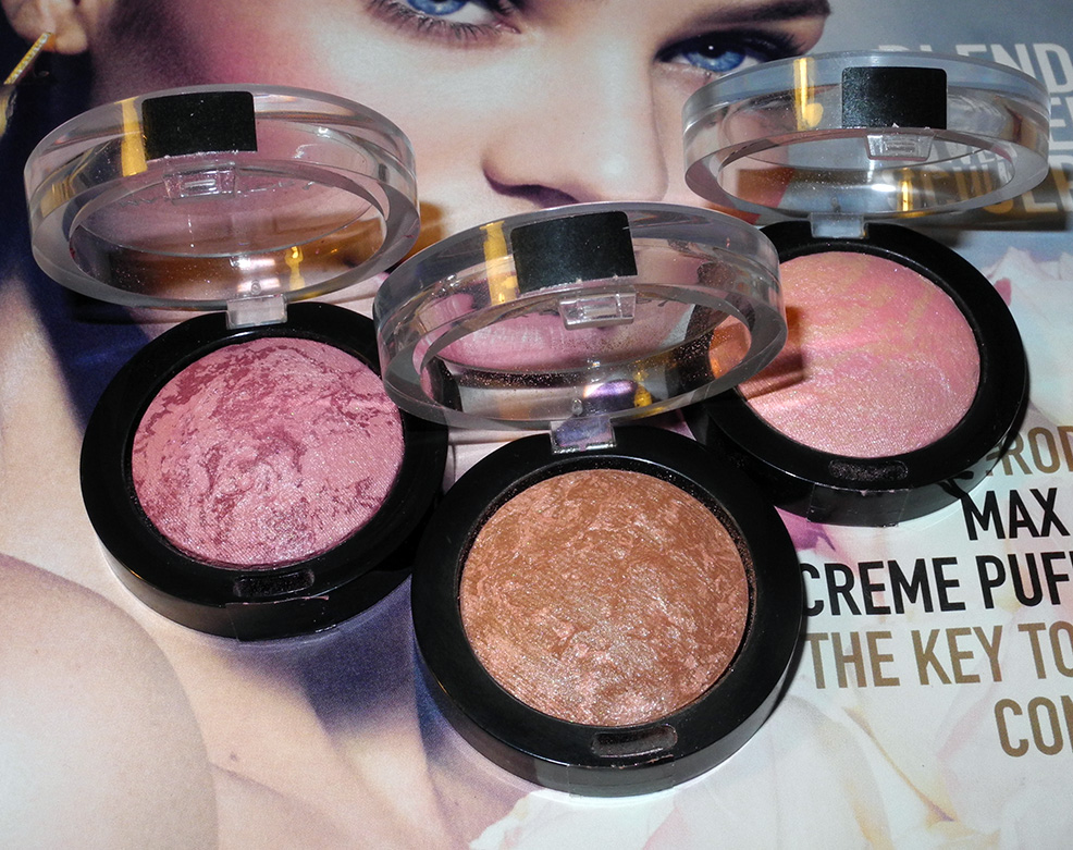 Max Factor Creme Puff Blushes Review and Swatches close up
