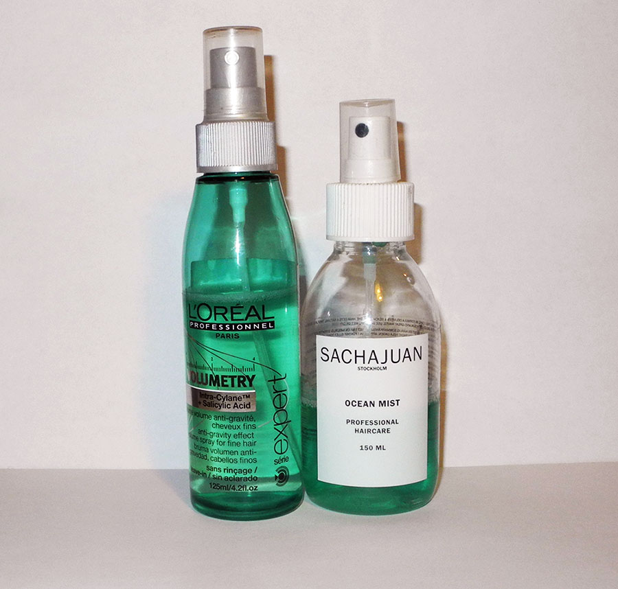 My Favourite Volumizing Hair Sprays sacha juan and Loreal volumetry spray