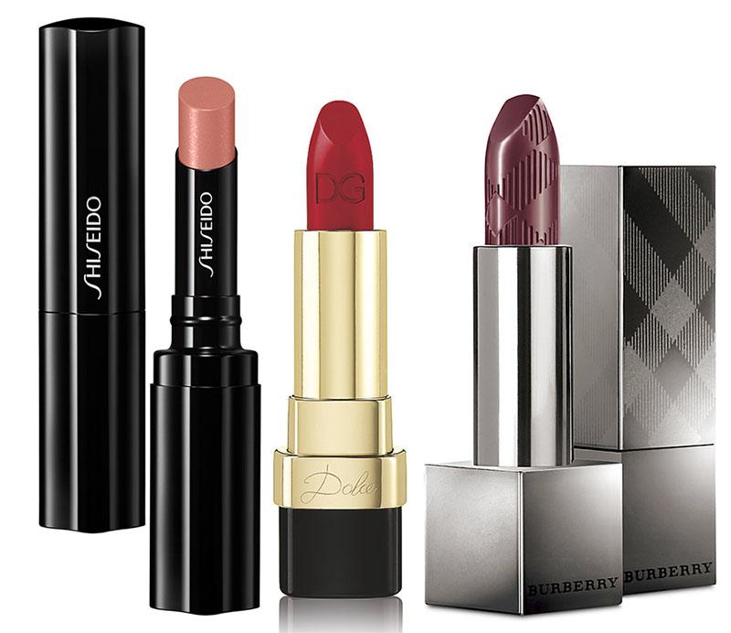 SS15 Lipsticks Burberry, Dolce & Gabbana and Shiseido
