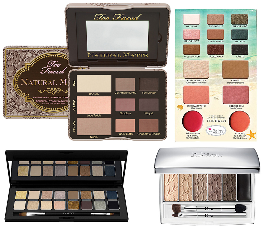 Spring 2015 Eye Shadows Too Faced, the  Balm, Dior and shu uemura
