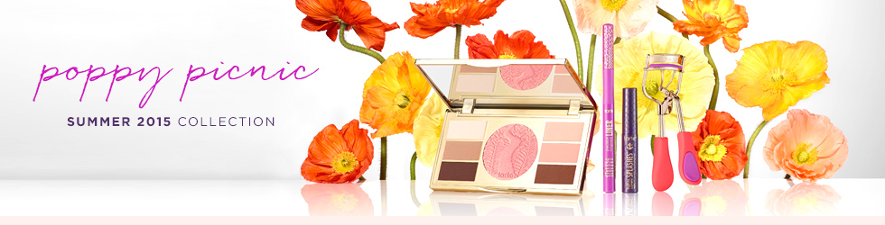 tarte Poppy Picnic Makeup Collection for Summer 2015 promo