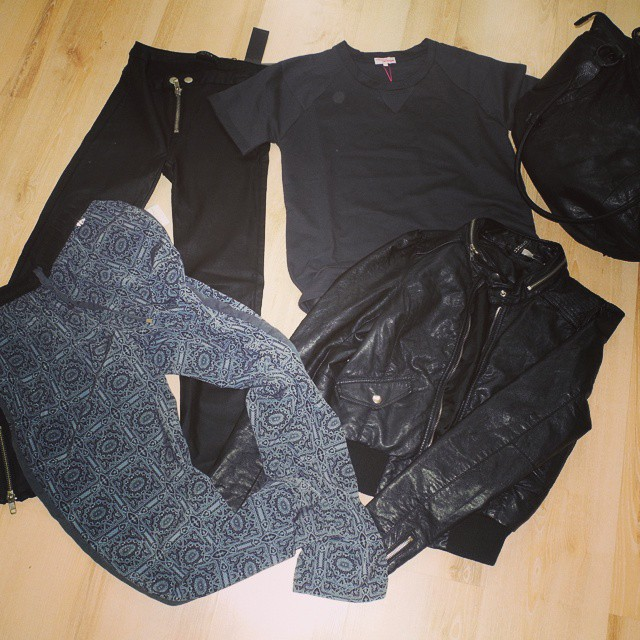 New clothes Makeup4all black laether jacket, trousers, bag