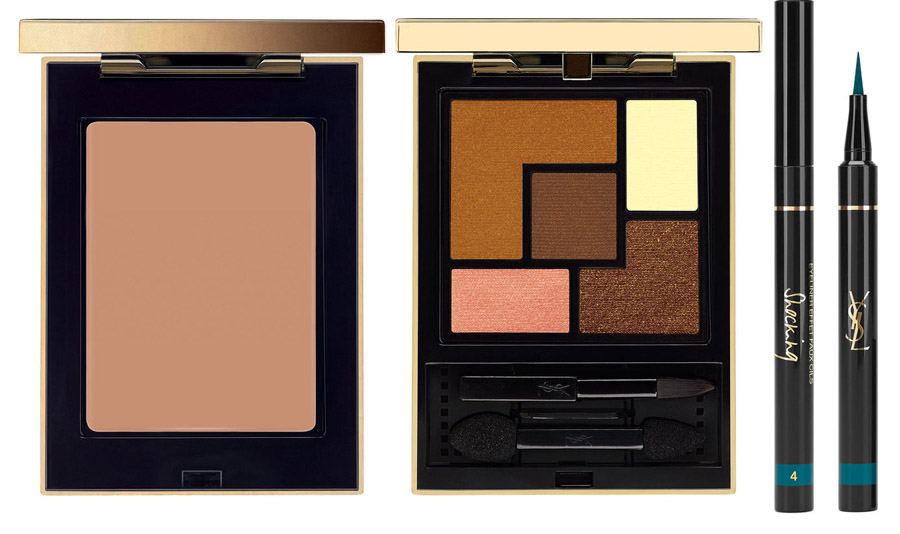 YSL Saharienne Makeup Collection for Summer 2015 face and eyes