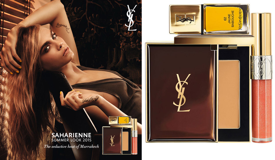YSL Saharienne Makeup Collection for Summer 2015 promo with Cara Delevigne