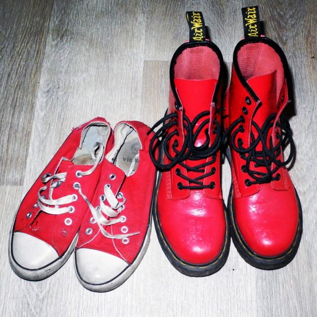 my red shoes drmartens makeup4all