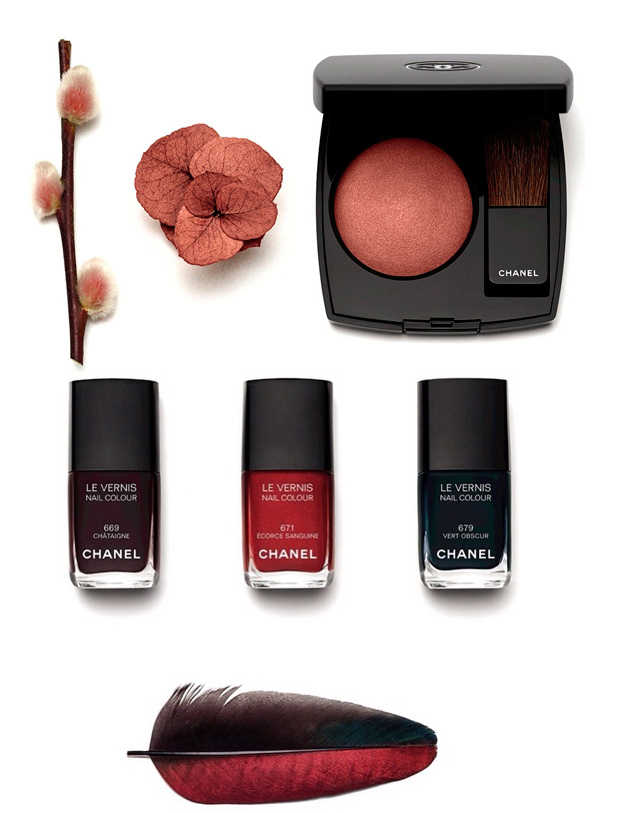 Chanel  Les Automnales Makeup Collection for Autumn 2015 blush and nail polish