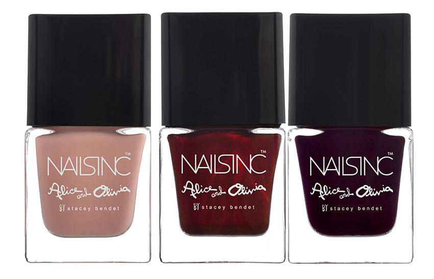 Nails INC and  Alice + Olivia fall 2015 nail polish