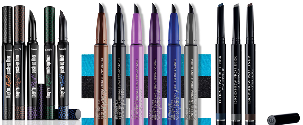 SS15 Makeup Gel Eye Liners in Pen Dior, Benefit, Smashbox