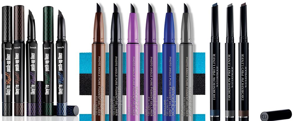 SS15 Makeup Gel Eye Liners in Pen Dior, Benefit, Smashbox