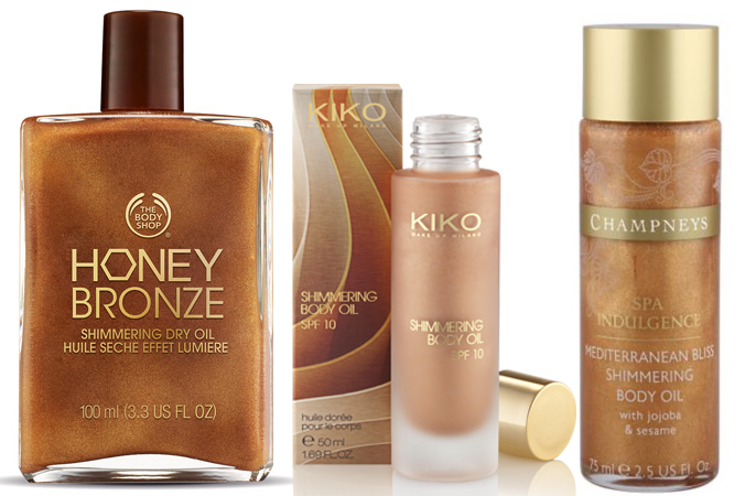 Shimmering Body Oils SS15 KIko The Body Shop and Champneys