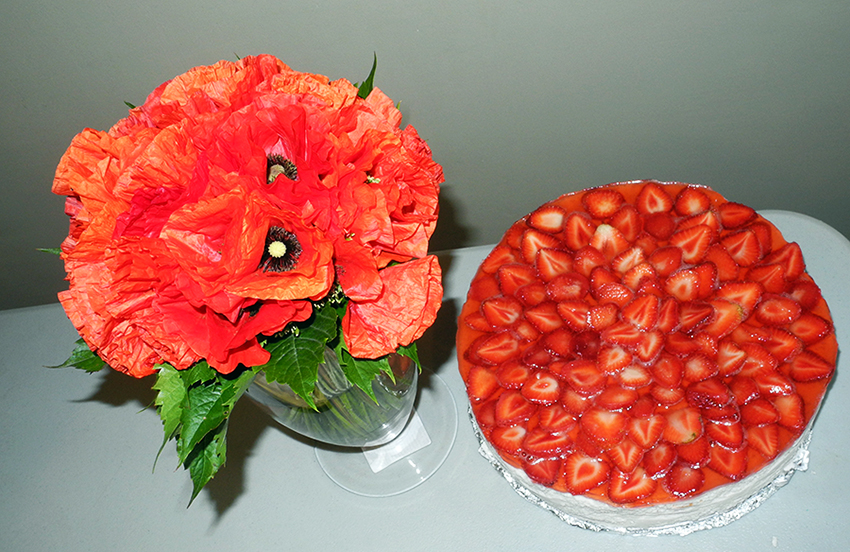 Starwberry cake and poppies makeup4all