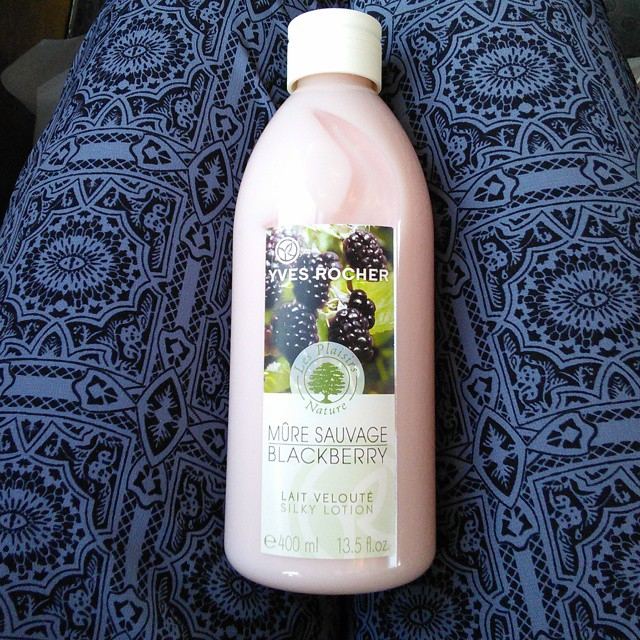 Yves Rocher Silky Lotion with Blackberry review