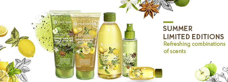yves rocher les plaisirs nature lemon basil apple Apple Star Anise