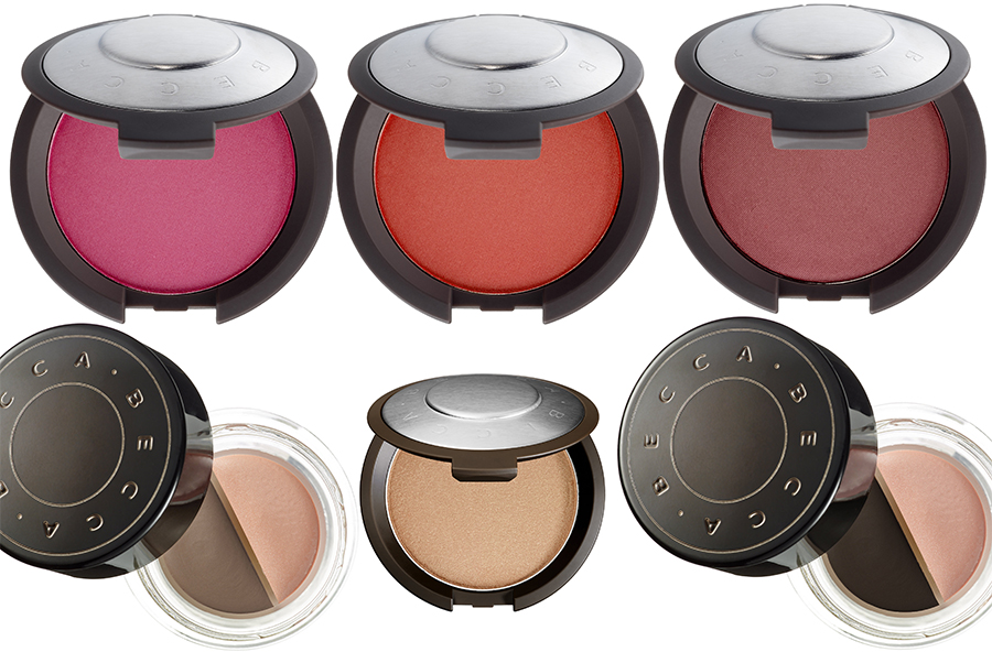 BECCA Makeup Collection for Summer 2015 champagne pop, mineral blush, brow mousse
