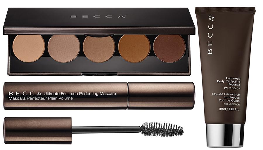 BECCA Makeup Collection for Summer 2015 eye shadows, mascara, body gel