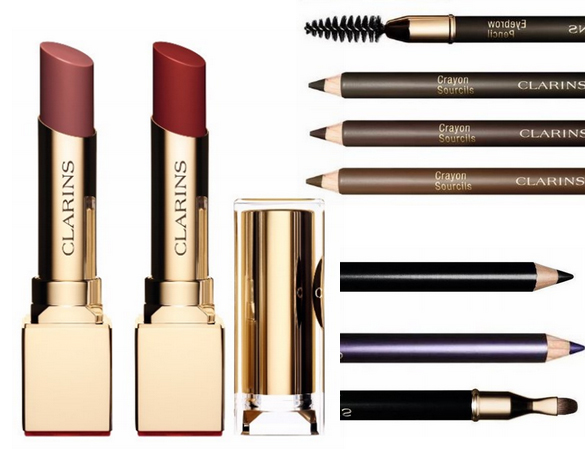 Clarins Makeup Collection for Autumn 2015 lips, eyes and brows