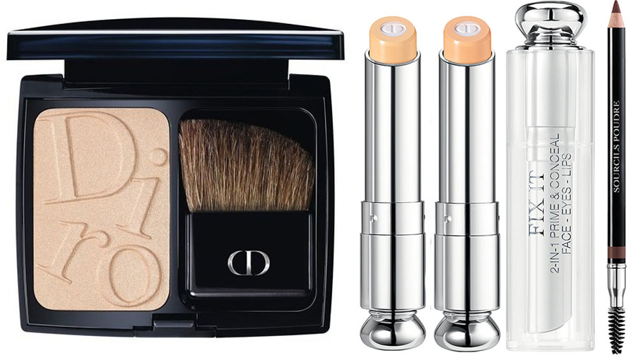 Dior Cosmopolite Makeup Collection for Autumn 2015 highlighter, concealer and eye brow pencil