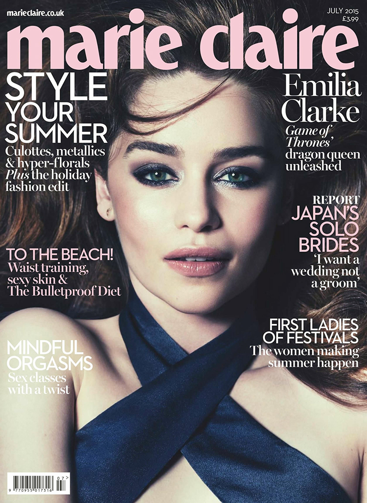 Emilia Clarke Marie Claire July UK 2015 cover