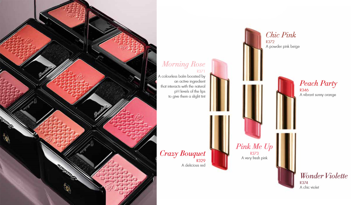 Guerlain Bloom of Roses Makeup Collection for Autumn 2015 blushes and lip balms
