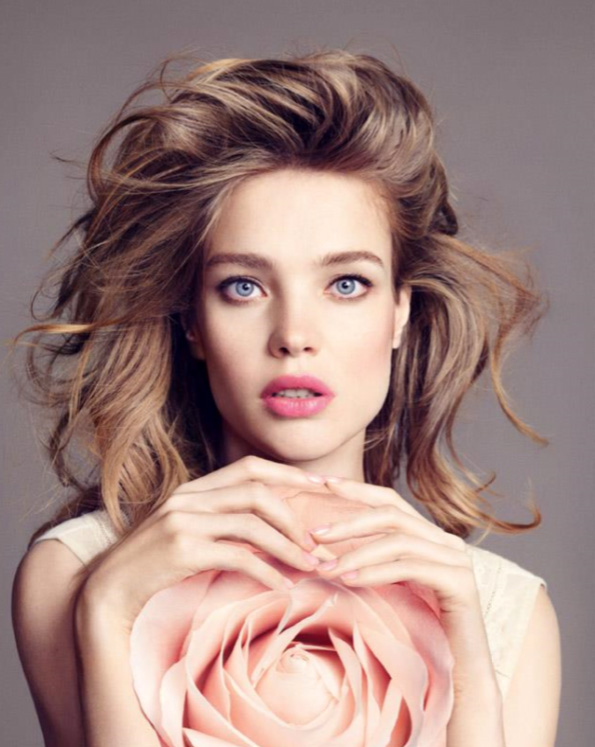 Guerlain  Bloom of Roses Makeup Collection for Autumn 2015 promo with Natalia Vodianova