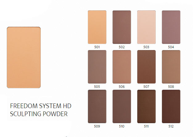 Inglot HD Sculpting Powder all shades