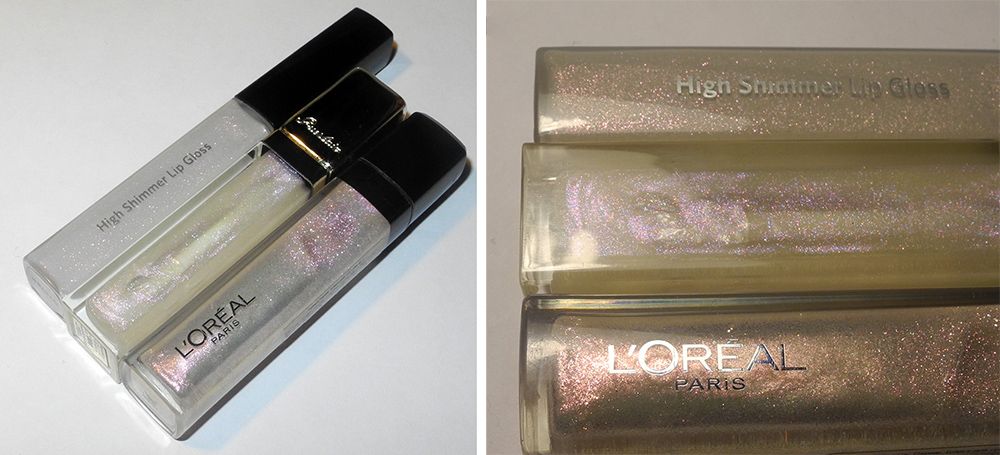 L'Oreal Glam Shine in Dazzle 201 Sparkle Shower Guerlain and Bobbi Brown