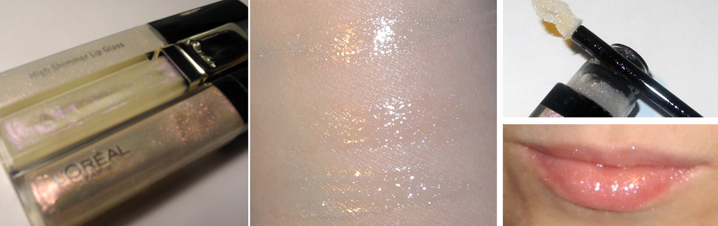 L'Oreal Glam Shine in Dazzle 201 Sparkle Shower Review and Lip Swatches 1
