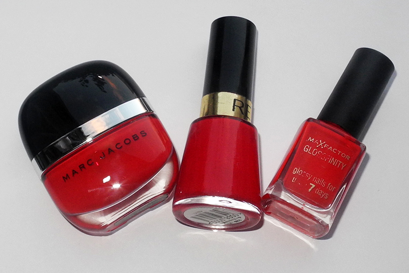 My Top 3 Red Nail Polishes Marc Jacobs Revlon Max Factor