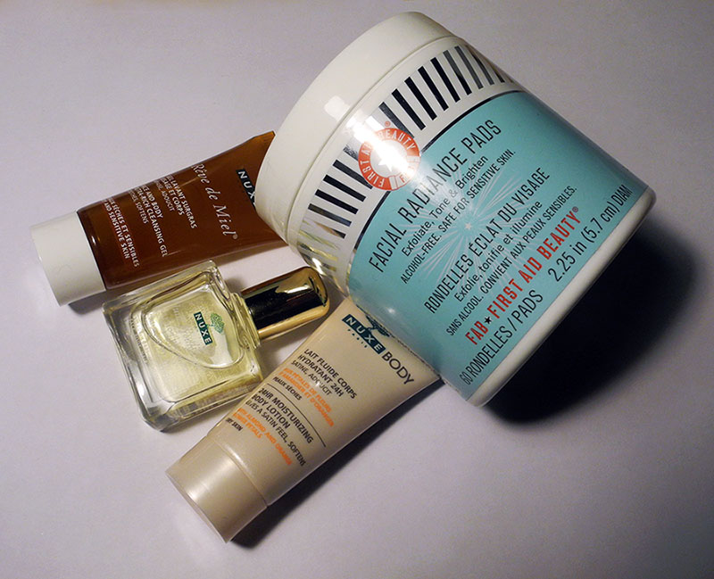 New Beauty Purhases First Aid Beauty and Nuxe
