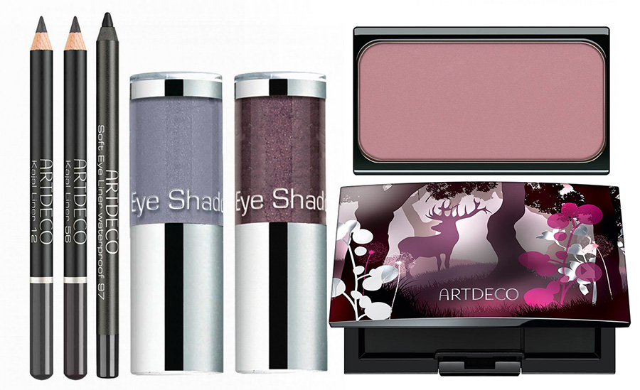 ArtDeco Mystical Forest Makeup Collection for Autumn 2015 blush, case and eye pencils