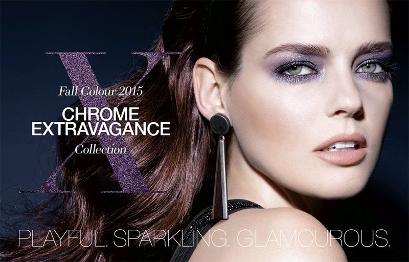 Laura Mercier Chrome Extravagance Autumn 2015 Makeup Collection promo