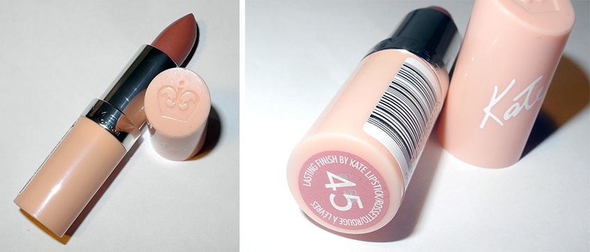 Rimmel  Kate Moss Lasting Finish Lipstick  in 45 Review and Lip Swatches