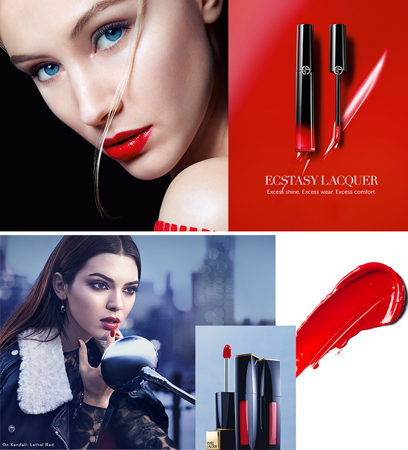 Armani Rouge Ecstasy and Estee Lauder Envy Lacquer Fall 2015 makeup4all