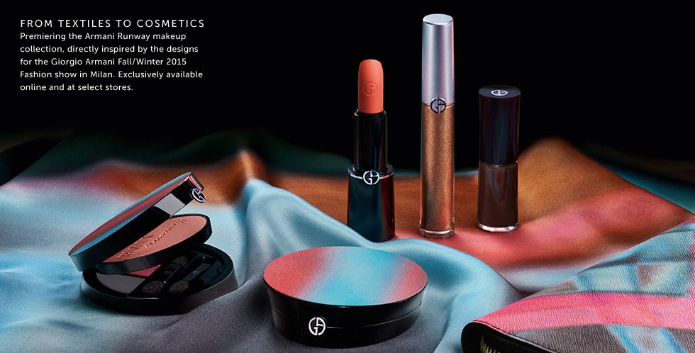 Armani  Runway Makeup Collection for Autumn 2015 promo